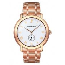 Replicas de Audemars Piguet Jules Audemars pequeñas segundos Pink Gold reloj