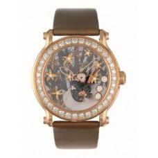 Réplica Chopard Superb damas Happy Sport Diamante And Gem-set Panda Reloj