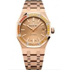 Réplica Audemars Piguet Royal Oak 15451 Selfwinding Oro rosado Rosado Sapphire Reloj