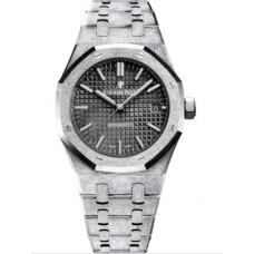 Réplica Audemars Piguet Royal Oak 15454 Selfwinding Frosted Oro blanco Negro Reloj