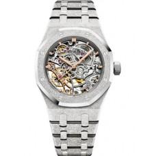 Réplica Audemars Piguet Royal Oak Double Balance Wheel Openworked Frosted Oro blanco Reloj