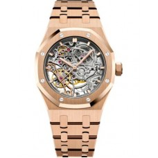 Réplica Audemars Piguet Royal Oak Double Balance Wheel Openworked Oro rosado Reloj