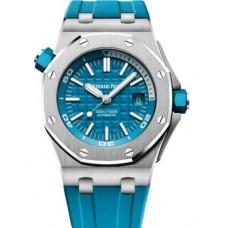 Réplica Audemars Piguet Royal Oak Offshore Diver Acero inoxidable Turquoise Reloj