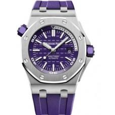 Réplica Audemars Piguet Royal Oak Offshore Diver Acero inoxidable Purpura Reloj