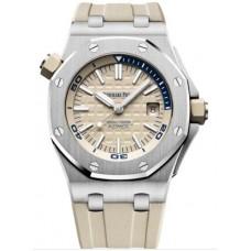 Réplica Audemars Piguet Royal Oak Offshore Diver Acero inoxidable Beige Reloj