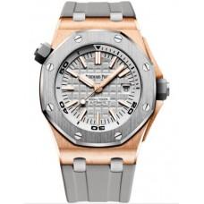 Réplica Audemars Piguet Royal Oak Offshore Diver Oro rosado Titanium/plata Reloj