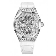 Réplica Audemars Piguet Royal Oak Concept Flying Tourbillon Oro blanco Reloj