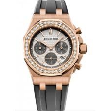 Réplica Audemars Piguet Royal Oak OffShore 26231 dama Cronografo Oro rosado plata Diamante Reloj
