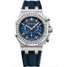 Réplica Audemars Piguet Royal Oak OffShore 26231 dama Cronografo Acero inoxidable plata Diamante Reloj