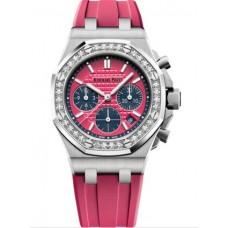 Réplica Audemars Piguet Royal Oak OffShore 26231 dama Cronografo Acero inoxidable Rosado Diamante Reloj
