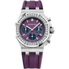 Réplica Audemars Piguet Royal Oak OffShore 26231 dama Cronografo Acero inoxidable Plum Diamante Reloj