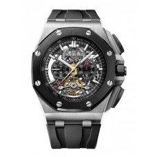 Réplica Audemars Piguet Royal Oak Offshore Tourbillon Cronografo Open-Worked Titanium Reloj