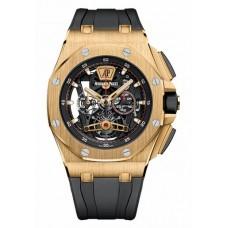 Réplica Audemars Piguet Royal Oak Offshore Tourbillon Cronografo oro Reloj