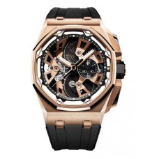 Réplica Audemars Piguet Royal Oak Offshore Tourbillon Cronografo Rosa oro Reloj