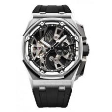 Réplica Audemars Piguet Royal Oak Offshore Tourbillon Cronografo Acero inoxidable Reloj