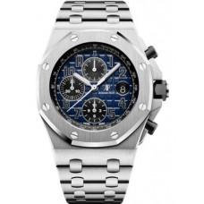 Réplica Audemars Piguet Royal Oak Offshore 26470 Platinum Smoked Azul Bracelet Reloj