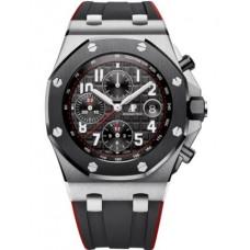 Réplica Audemars Piguet Royal Oak Offshore 26470 Acero inoxidable Ceramic Negro Rubber Reloj