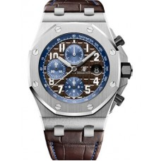 Réplica Audemars Piguet Royal Oak Offshore 26470 Acero inoxidable marron Alligator Reloj