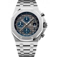 Réplica Audemars Piguet Royal Oak OffShore 25721 Cronografo Titanium Gris Bracelet QE II Cup Reloj