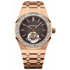 Réplica Audemars Piguet Royal Oak Tourbillon Extra-thin Rosa oro Reloj