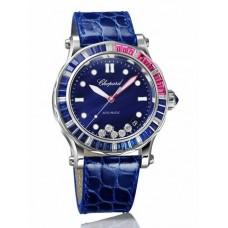Réplica Chopard Happy Ocean Red Rosa Calendar Reloj de senoras