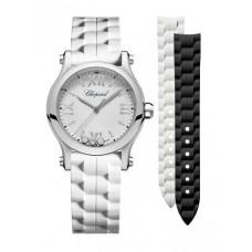 Réplica Chopard Happy Sport 30 MM Quartz Acero inoxidable And Diamantes Reloj