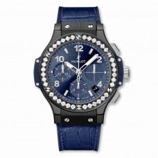 Réplica Hublot Big Bang Ceramic Azul Diamantes 41mm
