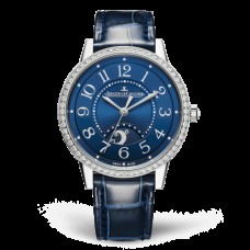 Réplica Jaeger-LeCoultre 3448480 Rendez-Vous Night & Day Medium Acero inoxidable/Azul/Alligator