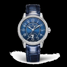 Réplica Jaeger-LeCoultre 3468480 Rendez-Vous Night & Day Small Acero inoxidable/Diamante/Azul/Alligator
