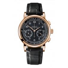 Réplica A. Lange & Sohne 414.031 1815 Cronografo Oro rosado/Negro/Pulsometer