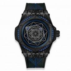 Réplica Hublot Big Bang One Click Sang Bleu All Negro Azul 39mm