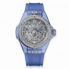 Réplica Hublot Big Bang One Click Azul Sapphire Diamantes 39mm