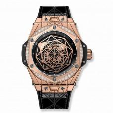 Réplica Hublot Big Bang Sang Bleu King Gold Diamantes 39mm