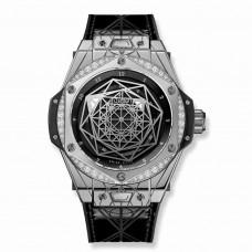 Réplica Hublot Big Bang Sang Bleu Acero Diamantes 39mm