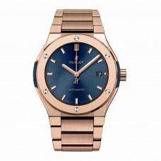 Réplica Hublot Classic Fusion Azul King Gold Bracelet 45mm