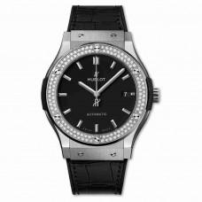 Réplica Hublot Titanium Diamantes 45mm Classic Fusion Automatico Relojes
