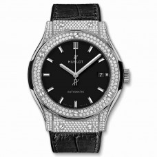Réplica Hublot Titanium Pav&eacute 45mm Classic Fusion Diamante Relojes