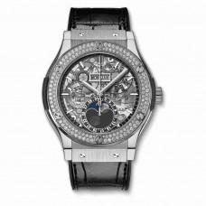 Réplica Hublot Classic Fusion Aerofusion Moonphase Titanium Diamantes 45mm