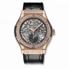 Réplica Hublot Classic Fusion Aerofusion Moonphase King Gold Diamantes 45mm