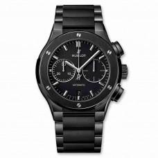 Réplica Hublot Classic Fusion Cronografo Negro Magic Bracelet 45mm
