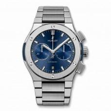 Réplica Hublot Classic Fusion Azul Cronografo Titanium Bracelet 45mm