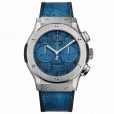 Réplica Hublot Classic Fusion Cronografo Berluti Scritto Ocean Azul 45mm