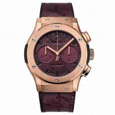 Réplica Hublot Classic Fusion Cronografo Berluti Scritto Bordeaux 45mm