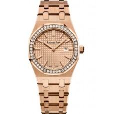 Réplica Audemars Piguet Royal Oak 67651 Quartz Oro rosado Rosado Bracelet Reloj