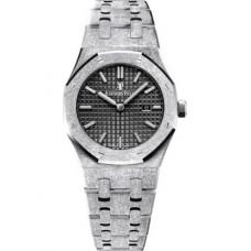 Réplica Audemars Piguet Royal Oak 67653 Quartz Frosted Oro blanco Rosado Bracelet Reloj