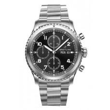 Réplica Breitling Navitimer 8 Cronografo Negro Dial Acero Bracelet Reloj