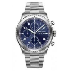 Réplica Breitling Navitimer 8 Cronografo Azul Dial Acero Bracelet Reloj
