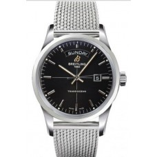 Réplica Breitling Transocean Day & Date Acero inoxidable Reloj