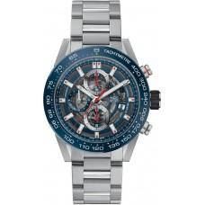 Réplica Tag Heuer Carrera Skeleton Dial Automatico Hombres Cronografo Reloj CAR201T.BA0766