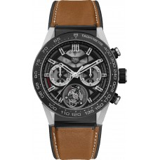 Réplica Tag Heuer Carrera Cronografo Automatico Negro Dial Hombres Reloj CAR2090.BH0729